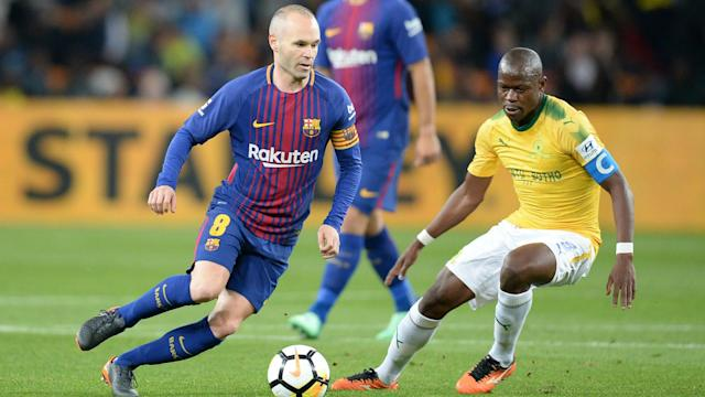 Ousmane Dembele, Luis Suarez and Andre Gomes were among the goals as Barcelona beat Mamelodi Sundowns on their quick visit to South Africa.