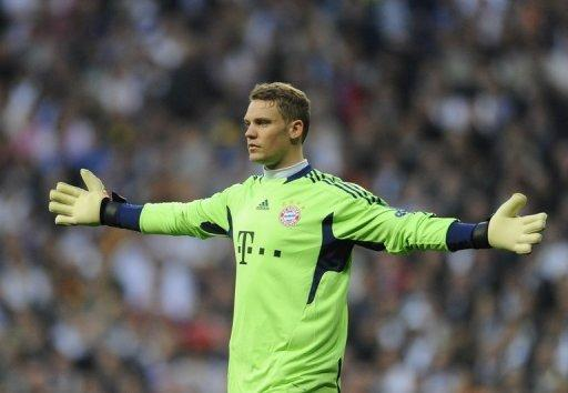 Bayern Munich goalkeeper Manuel Neuer during the Champions League second leg semi-final against Real Madrid on April 25. Neuer was the hero for Bayern as his side went through to the Champions League final