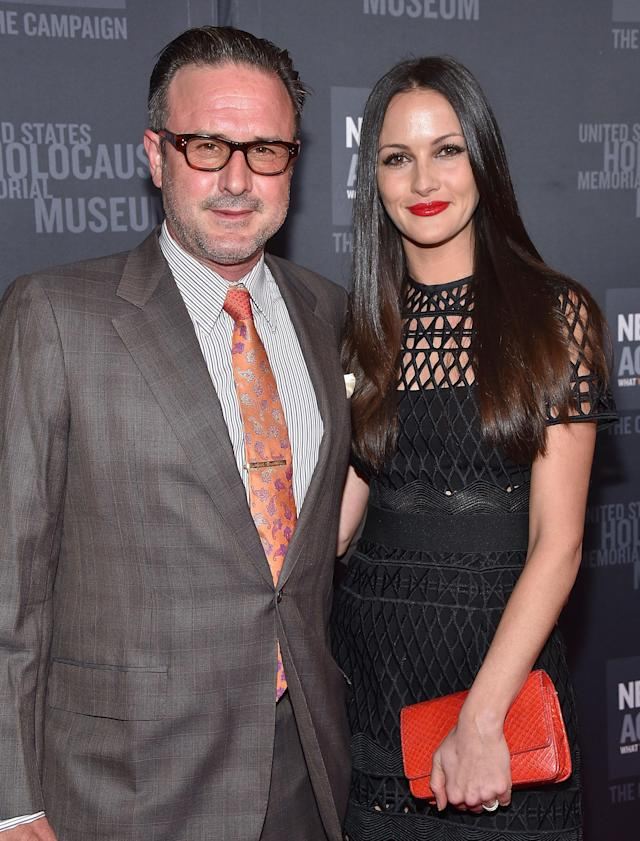 Arquette is now married to Christina McLarty, pictured here with him in 2016. The former <em>Entertainment Tonight</em> reporter is a producer on his new documentary. (Photo:  Mike Windle/Getty Images)