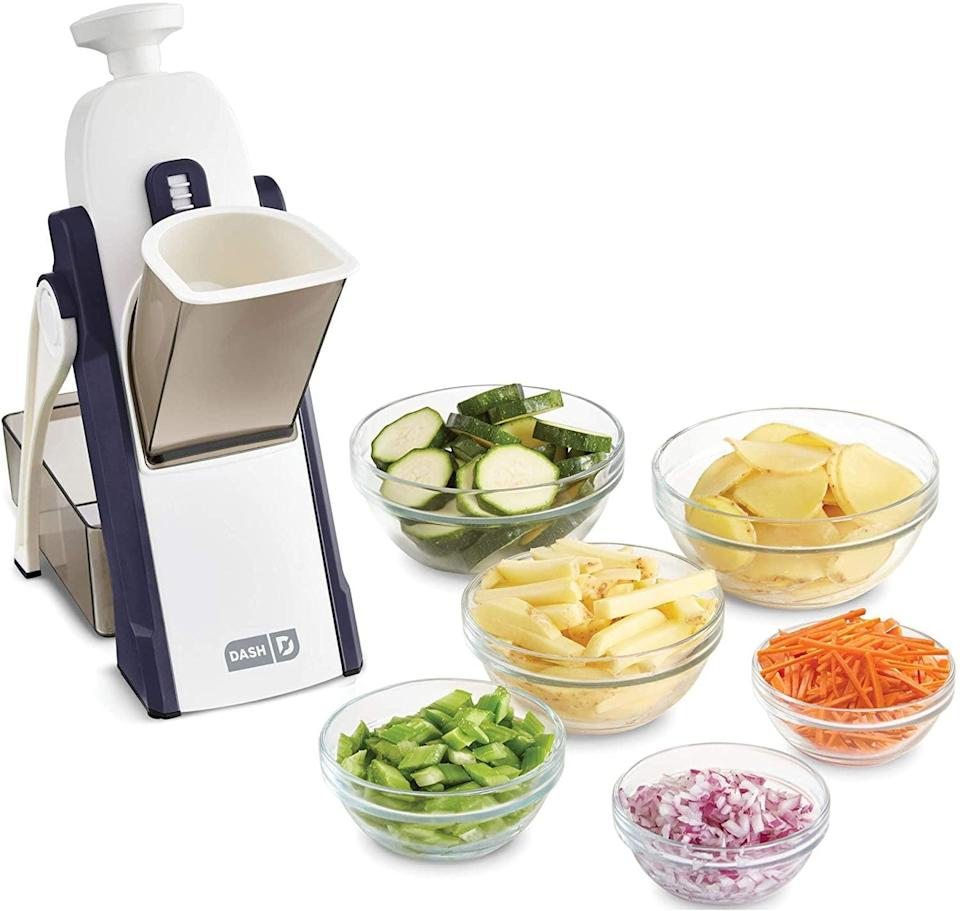 <p>Make meal prepping easier with this <span>Dash Safe Slice Mandoline Slicer, Julienne, and Dicer </span> ($50). You can adjust it more than 30 different ways for perfect slicing and dicing. </p>