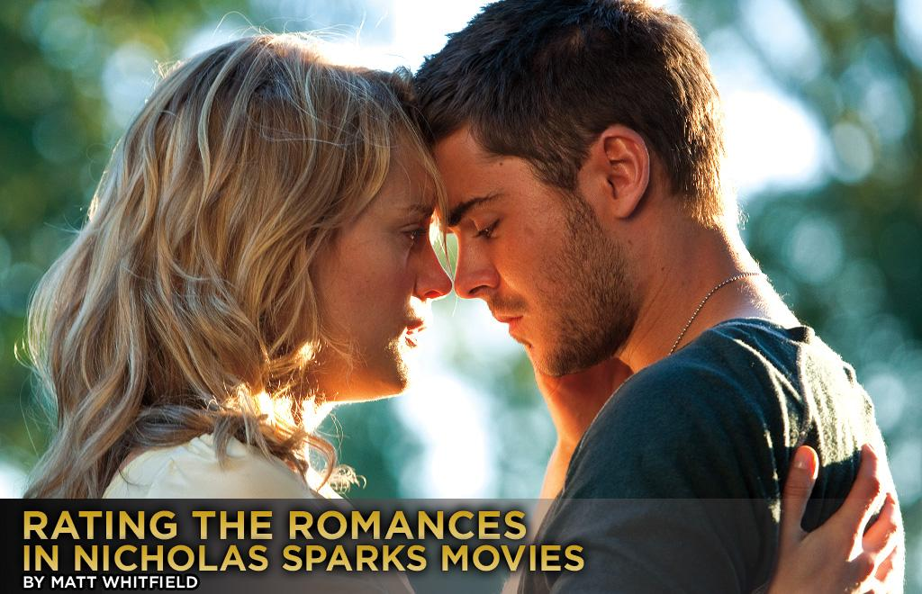 "Before you head to the theater this weekend to see Zac Efron sweep Taylor Schilling off her feet in <a target=""_blank"" href=""http://movies.yahoo.com/movie/the-lucky-one/"">""The Lucky One,""</a> check out how we rated the romances featured in best-selling author Nicholas Sparks' previous film adaptations."
