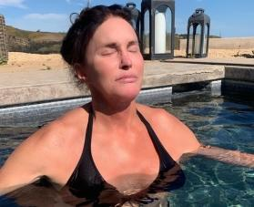 Reality star Caitlyn Jenner, 70, strips down to black bikini for jungle shower