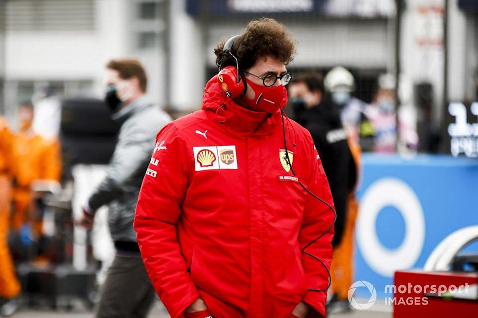 "Mattia Binotto, Team Principal Ferrari on the grid<span class=""copyright"">Andy Hone / Motorsport Images</span>"