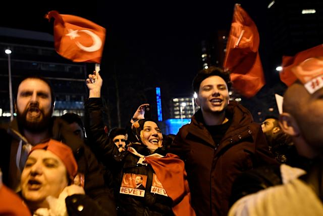 Turkish protestors