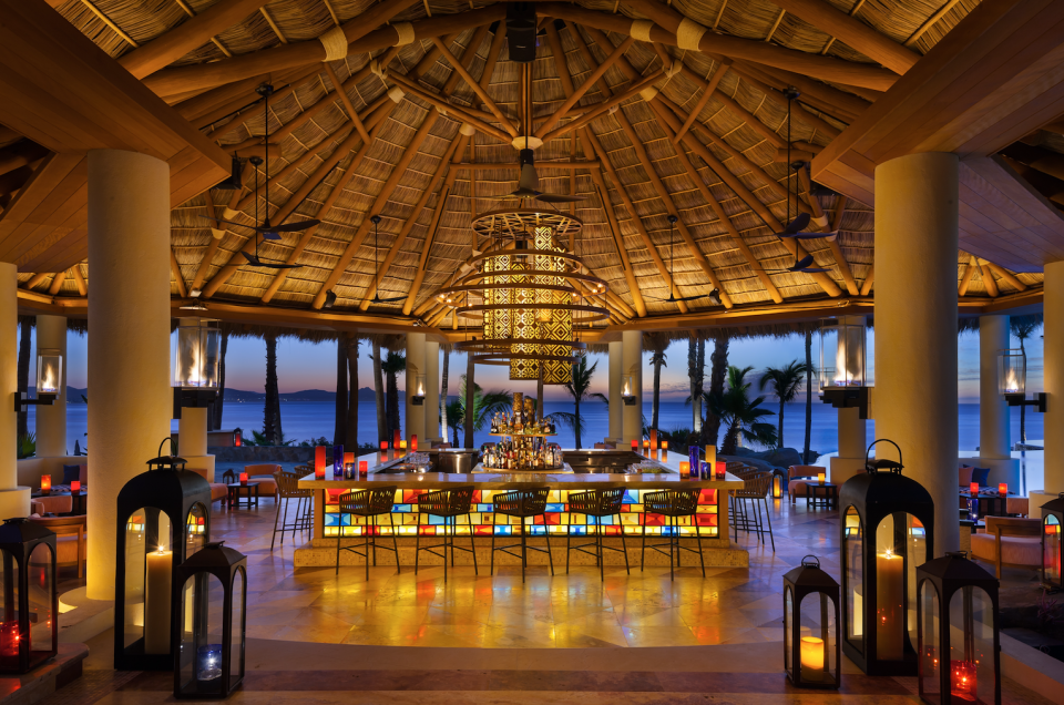 """<p>There are a number of fancy restaurants the wedding party may enjoy, including Agua by Larbi, which offers delicious food overlooking the incredible water. Imagine wedding guests, including Roxy Jacenko and James Packer enjoying a toast to the happy couple here. <br>Source: <a rel=""""nofollow noopener"""" href=""""https://www.oneandonlyresorts.com/one-and-only-palmilla-los-cabos"""" target=""""_blank"""" data-ylk=""""slk:One&Only"""" class=""""link rapid-noclick-resp"""">One&Only</a> </p>"""