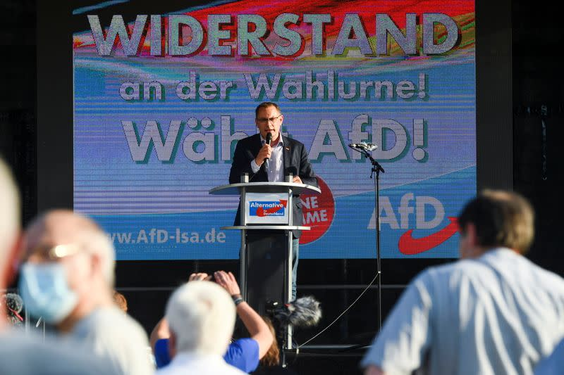 Final election campaign rally of far-right Alternative for Germany (AfD) party in Magdeburg