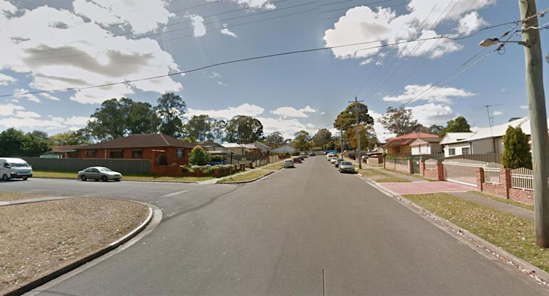 The intersection of Denison Street and Studley Street, Carramar is pictured.