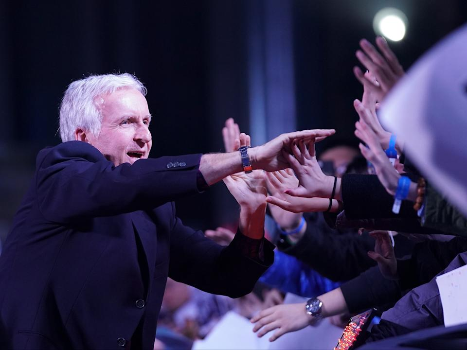 Cameron reaching out to fans ahead of the release of Alita: Battle Angel in Beijing in 2019Getty Images