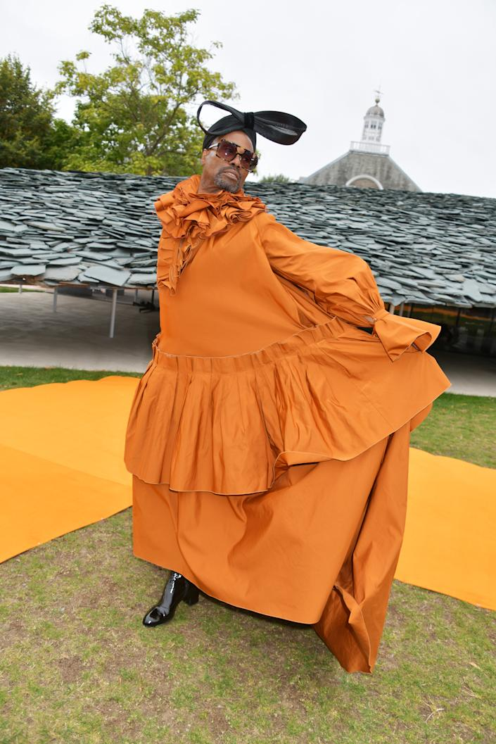 LONDON, ENGLAND - SEPTEMBER 16: Billy Porter attends the Roksanda front row during London Fashion Week September 2019 at The Serpentine Gallery on September 16, 2019 in London, England. (Photo by David M. Benett/Dave Benett/Getty Images)