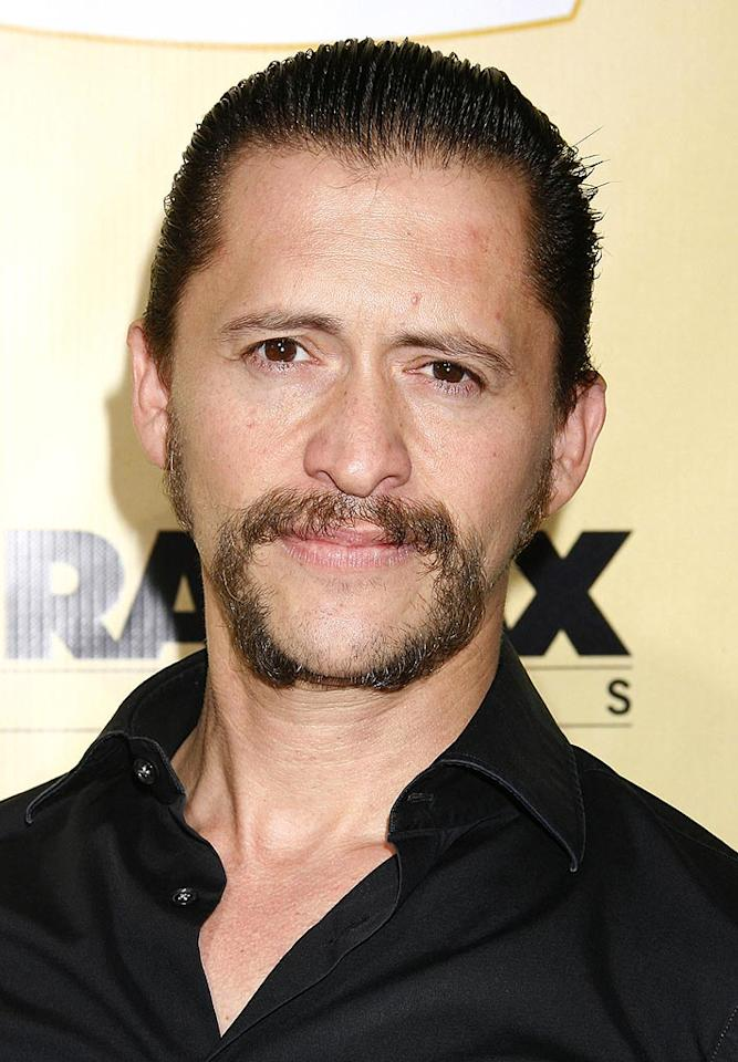 """<a href=""""http://movies.yahoo.com/movie/contributor/1800350330"""">Clifton Collins Jr.</a> arrive at the Los Angeles premiere of <a href=""""http://movies.yahoo.com/movie/1810039594/info"""">Extract</a> - 08/24/2009"""