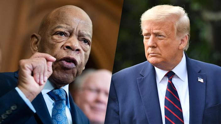 Rep. John Lewis and President Trump. (Getty Images)