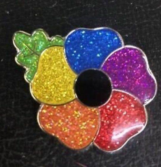 Ebay UK seller vaikona stopped selling their rainbow poppy pin on Nov. 3, writing in their post that they received