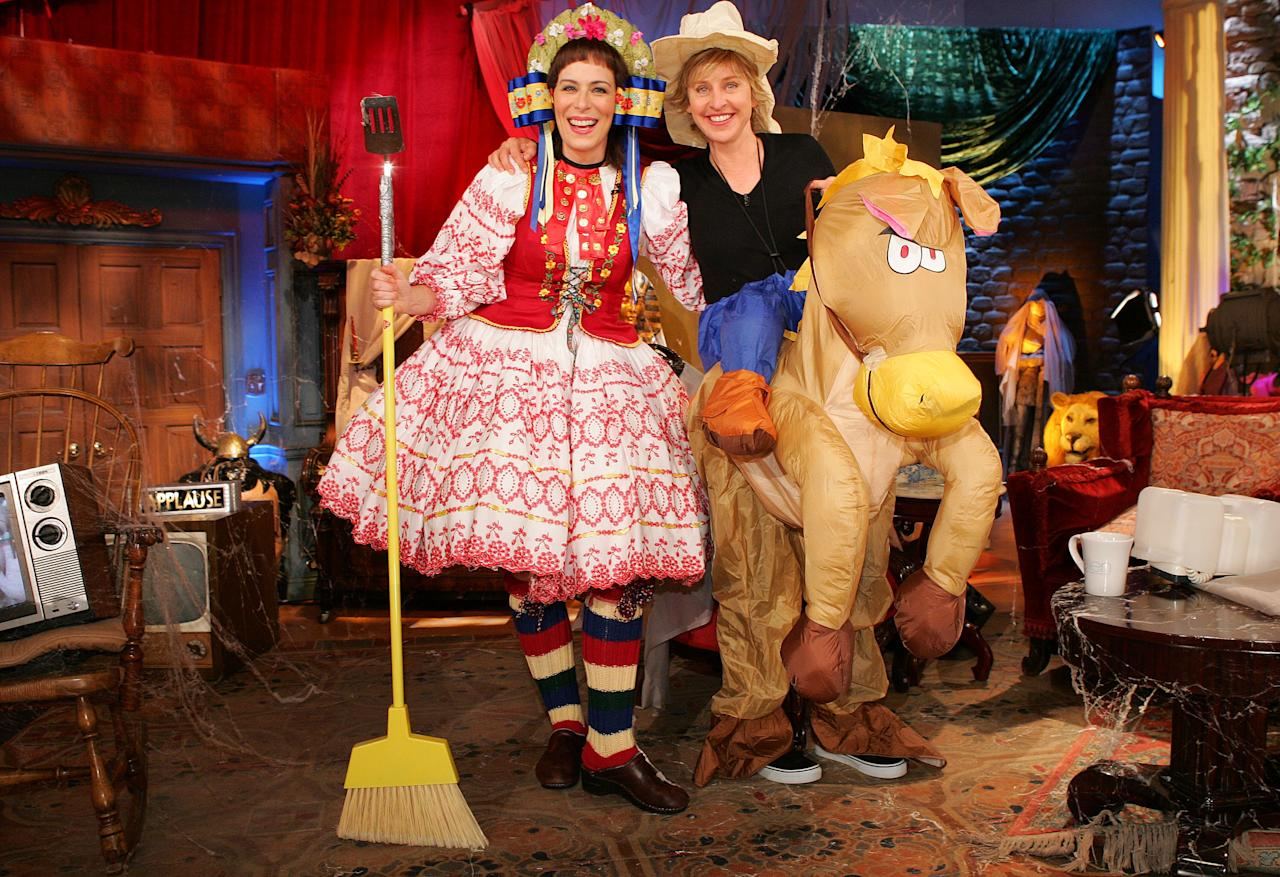 Giddyup! These seem like such simpler times, right? We barely recognize Ellen with her long hair.