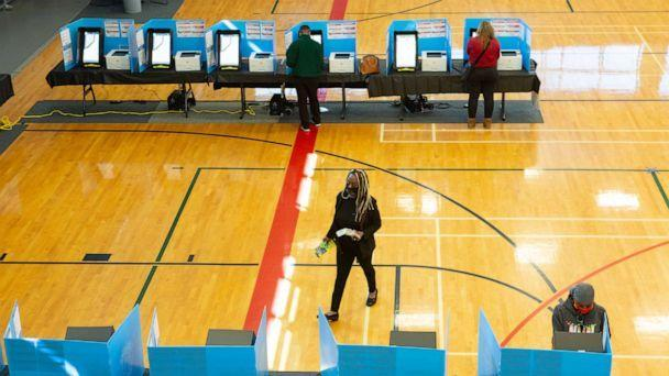 PHOTO: Voters cast ballots at Lucky Shoals Park polling station, Nov. 3, 2020, in Norcross, Ga.  (Jessica Mcgowan/Getty Images, FILE)