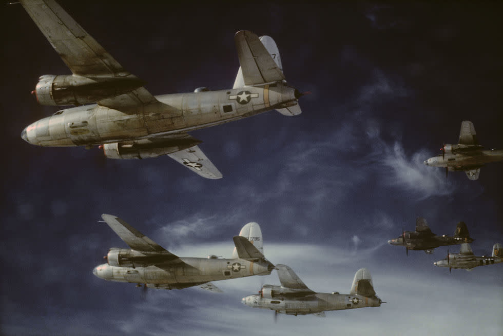 <p>Martin B-26 Marauders of the 441st Squadron, 320th Bombardment Group in 1945 (Picture: PA) </p>