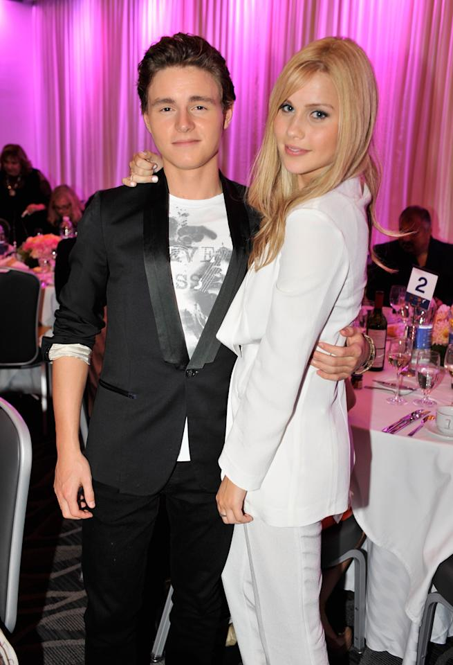 CENTURY CITY, CA - JUNE 27:  Actors Callan McAuliffe and Claire Holt attend Australians In Film Awards & Benefit Dinner at InterContinental Hotel on June 27, 2012 in Century City, California.  (Photo by Toby Canham/Getty Images for AIF)
