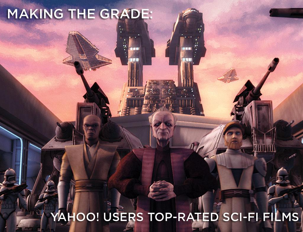 "With <a href=""http://movies.yahoo.com/movie/contributor/1800017101""> George Lucas</a>' animated epic <a href=""http://movies.yahoo.com/movie/1809991325/info"">Star Wars: The Clone Wars</a> launching this week, we've compiled ratings from you -- the Yahoo! Movies user -- to rank the top sci-fi flicks of all time. Is your favorite movie on the list? Click ahead to find out."