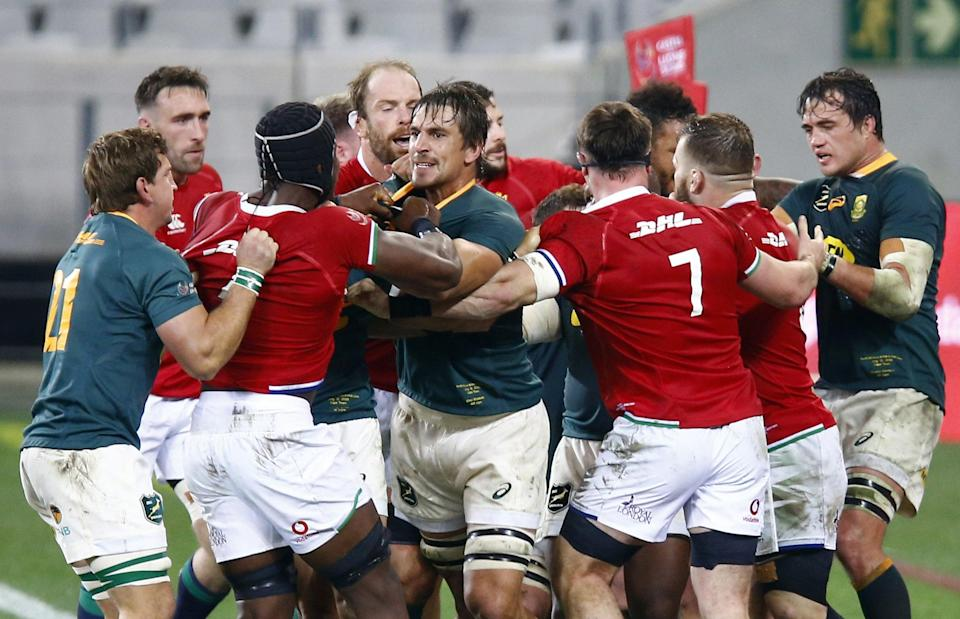 South Africa beat the British and Irish Lions in a bruising 27-9 victory to set up a decider in the three-match series (Steve Haag/PA) (PA Wire)