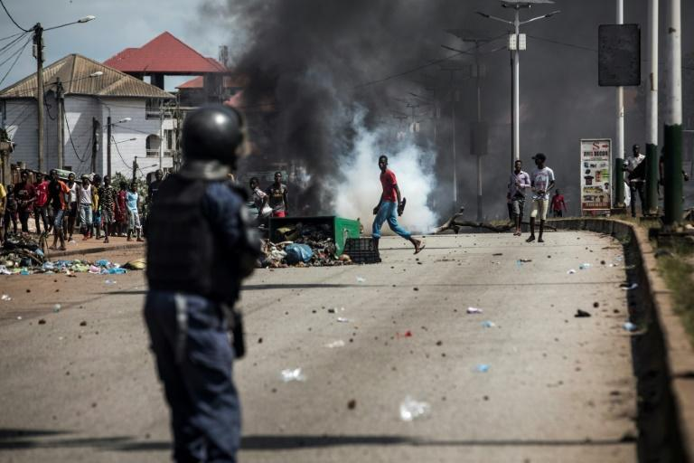 Cities across Guinea have been plagued by violence that has left around 10 people dead since Monday