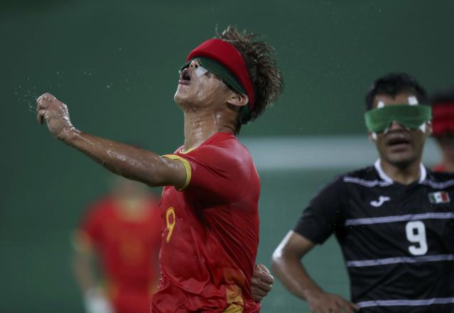 2016 Rio Paralympics - Football Soccer - Men's 5-a-side Preliminaries Pool B - China v Mexico - Olympic Tennis Centre - Rio de Janeiro, Brazil - 11/09/2016. Wang Zhoubin (CHN) of China in action. REUTERS/Ueslei Marcelino FOR EDITORIAL USE ONLY, NOT FOR SALE FOR MARKETING OR ADVERTISING CAMPAIGNS.