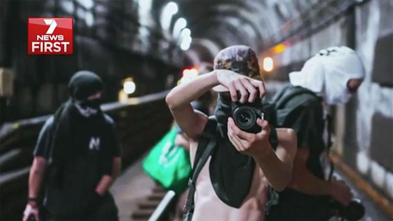 Heading into the city's underground tunnels, the social media group users are risking their lives to stage the perfect photos. Source: 7 News