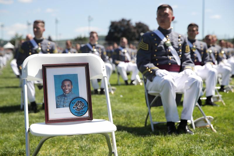 Morgan's classmates paid tribute to him at the graduation ceremony.
