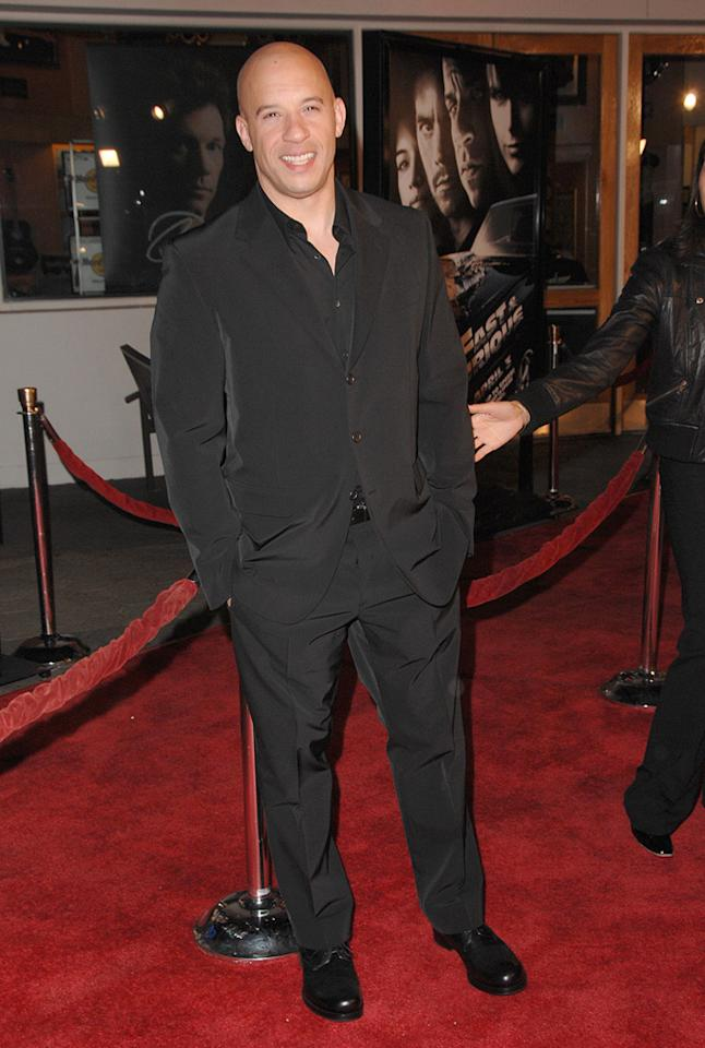"<a href=""http://movies.yahoo.com/movie/contributor/1800020716"">Vin Diesel</a> at the Los Angeles premiere of <a href=""http://movies.yahoo.com/movie/1809989992/info"">Fast & Furious</a> - 03/12/2009"