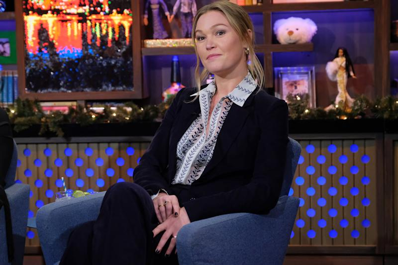 WATCH WHAT HAPPENS LIVE WITH ANDY COHEN -- Episode 16198 -- Pictured: Julia Stiles -- (Photo by: Charles Sykes/Bravo/NBCU Photo Bank via Getty Images)