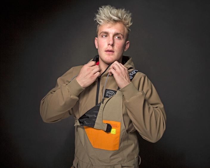 "In this Jan. 22, 2017, file photo, Jake Paul poses for a portrait at the Music Lodge during the Sundance Film Festival in Park City, Utah. Paul announced on July 22, 2017, that he was leaving the Disney Channel series ""Bizaardvark."""
