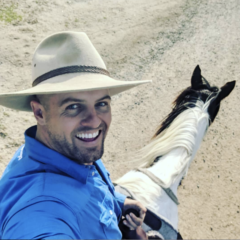 MAFS groom david instagram cowboy