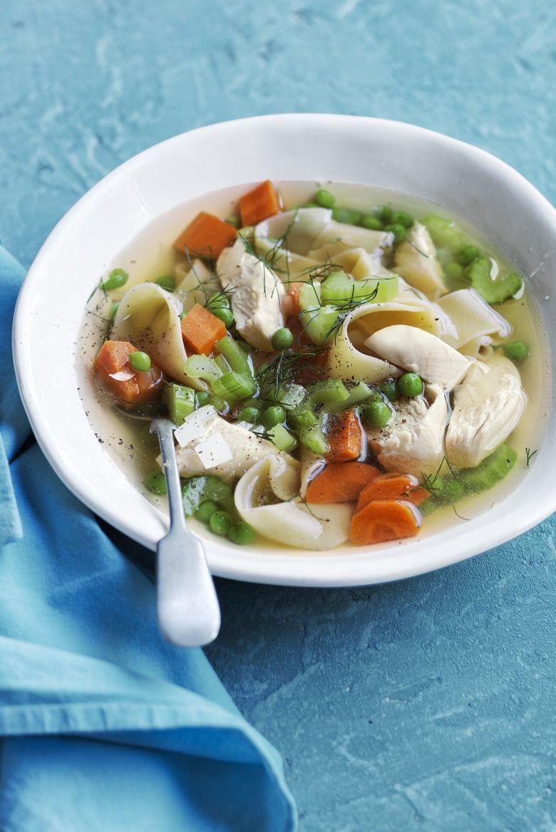 """<p>The hardest part of making this chicken noodle soup is smelling it while the slow cooker does its thing. It'll be worth the wait though, since cooking it for a few hours will combine all the flavors perfectly. </p><p><strong><em><a href=""""https://www.womansday.com/food-recipes/food-drinks/recipes/a53994/slow-cooker-chicken-noodle-soup-recipe/"""" rel=""""nofollow noopener"""" target=""""_blank"""" data-ylk=""""slk:Get the Slow-Cooker Chicken Noodle Soup recipe"""" class=""""link rapid-noclick-resp"""">Get the Slow-Cooker Chicken Noodle Soup recipe</a>. </em></strong></p><p><strong><a class=""""link rapid-noclick-resp"""" href=""""https://www.amazon.com/Crock-Pot-SCCPVL610-S-6-Quart-Programmable-Stainless/dp/B004P2NG0K/ref=sr_1_4?dchild=1&keywords=slow+cooker&qid=1606924817&sr=8-4&tag=syn-yahoo-20&ascsubtag=%5Bartid%7C10070.g.34837515%5Bsrc%7Cyahoo-us"""" rel=""""nofollow noopener"""" target=""""_blank"""" data-ylk=""""slk:SHOP SLOW COOKERS"""">SHOP SLOW COOKERS</a><br></strong></p>"""