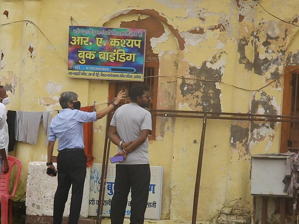 The Ram Ki Paidi facade is being cleaned and restored