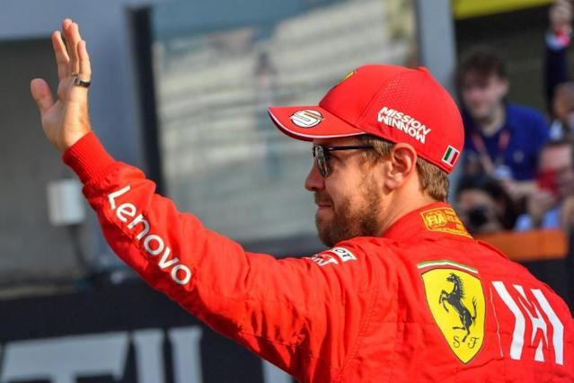 Vettel finished fifth in the drivers' standings behind his teammate Leclerc (AFP Photo/GIUSEPPE CACACE)