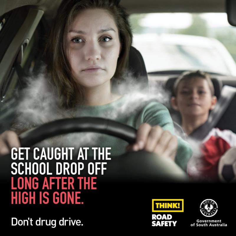 The ad is one of many aimed at cracking down on drug driving.