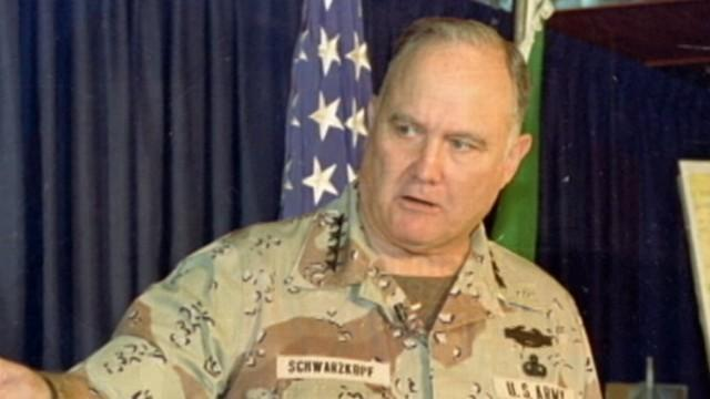The U.S. commander in the Gulf War served during the administration of President George H.W. Bush.