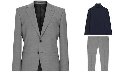 Reiss suit and Arket jumper