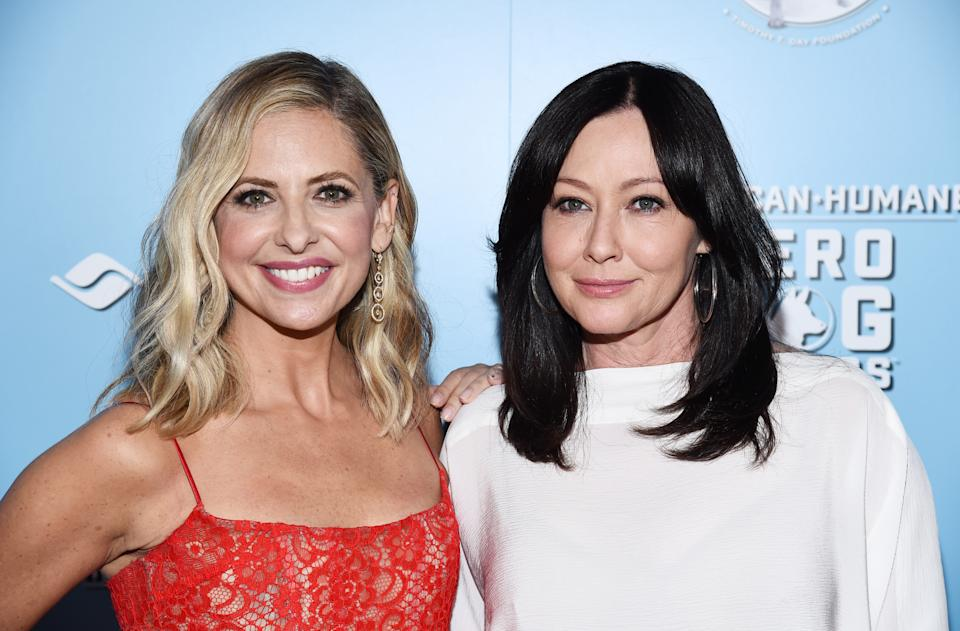 Sarah Michelle Gellar (L) and Shannen Doherty have been best friends for years. (Photo: Amanda Edwards/WireImage)