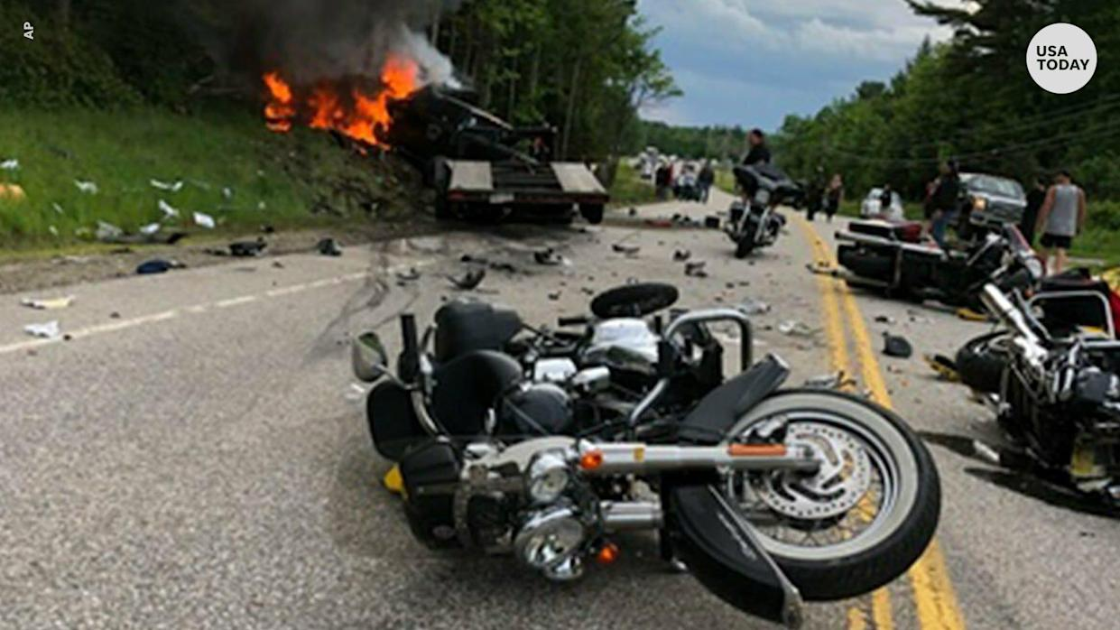 7 motorcyclists killed in gruesome collision, driver charged
