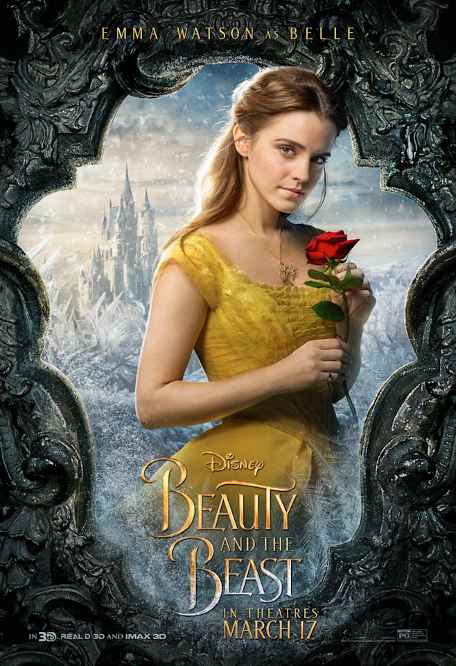 <p>Emma Watson as Belle. An iconic Disney princess, Harry Potter star Emma Watson brings her to life on the big screen. </p>
