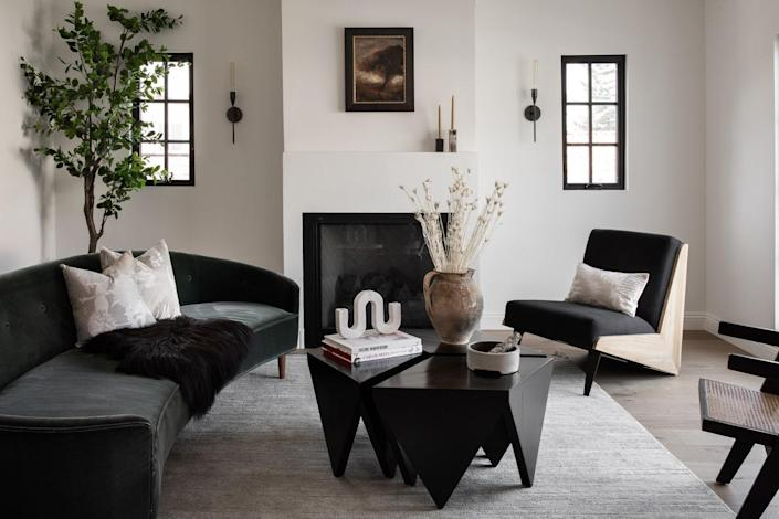 """""""When it came to staging, we had a very clear vision of the style and overall aesthetic we needed to complement the classic Tudor character of the house, and Annie Carolin of Pride of Place masterfully brought that vision to life,"""" says Sapna Aggarwal."""