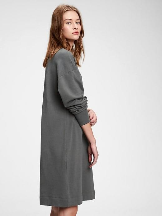 <p>This <span>Gap Fleece Sweatshirt Dress</span> ($55, originally $70) was practically made for lazy days on the couch.</p>