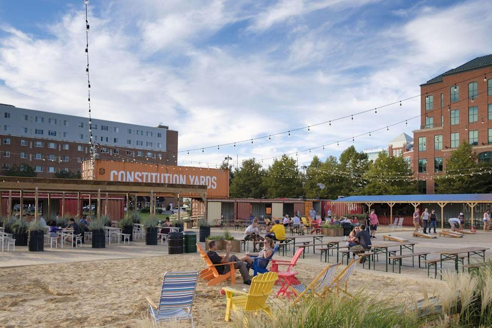 """<p>A seasonal beer garden recently opened along Delaware's Christina Riverwalk, and we couldn't be happier. <a href=""""http://www.constitutionyards.com"""" rel=""""nofollow noopener"""" target=""""_blank"""" data-ylk=""""slk:Constitution Yards Beer Garden"""" class=""""link rapid-noclick-resp"""">Constitution Yards Beer Garden</a> is the perfect place to unwind with a craft brew in hand, or even to try out axe throwing. If you're looking for something a little more low-key, head over to the <a href=""""https://canr.udel.edu/udairycreamery/"""" rel=""""nofollow noopener"""" target=""""_blank"""" data-ylk=""""slk:UDairy Creamery"""" class=""""link rapid-noclick-resp"""">UDairy Creamery</a> in Wilmington. Built in 2011 in association with the College of Agriculture and Natural Resources at the University of Delaware, the facilities will teach you how ice cream gets from the cow to your cone, with fun tours and activities along the way.</p>"""