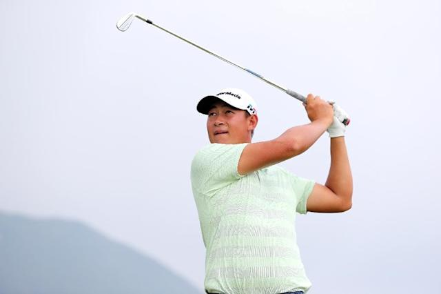 Yuan 'Carl' Yechun is China's third-ranked golfer. (AFP Photo/Zhuang Liu)