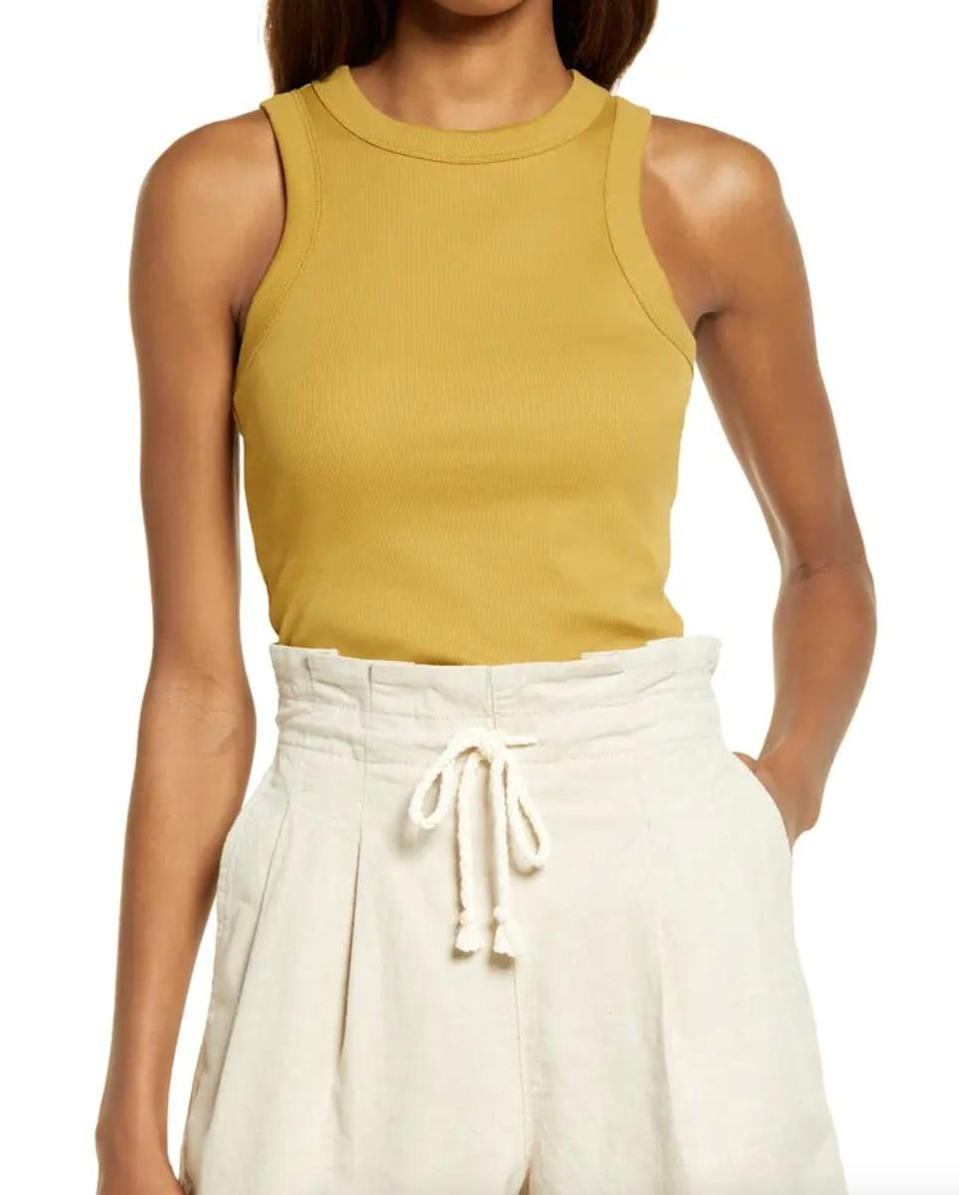 <p>This comfy <span>Madewell Brightside Tank Top</span> ($35) comes in other fun summery colors.</p>