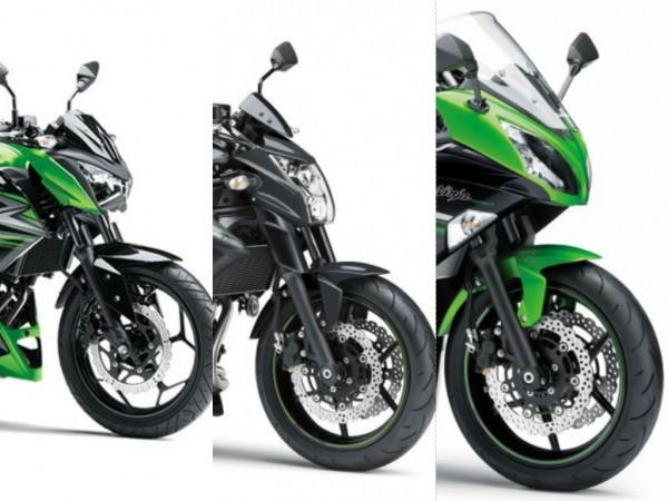 Kawasaki ER-6n, Ninja 650 and Z250