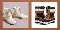 """<p>Whether you're hiking a snow-capped mountain or just shoveling your driveway, a good pair of snow boots is essential. The best snow boots for women provide lots of insulation from the cold and traction for icy terrain.</p><p><a href=""""https://www.footandankle-usa.com/provider/dr-priya-parthasarathy/"""" rel=""""nofollow noopener"""" target=""""_blank"""" data-ylk=""""slk:Dr. Priya Parthasarathy"""" class=""""link rapid-noclick-resp"""">Dr. Priya Parthasarathy</a>, a Maryland-based podiatrist, has an easy rule of thumb for vetting winter boots: Try bending the boots in half. They shouldn't budge; if they do, they're probably not worth the money. You should also look for a textured rubber sole, tight stitching (to keep out ice and snow), and a thick, cushioned insole. And don't be afraid of a slight chunky heel—it can actually provide <em>more</em> support by elevating your foot out of the snow! Once you pick your perfect pair, find thin <a href=""""https://www.thepioneerwoman.com/fashion-style/g34099287/best-wool-socks/"""" rel=""""nofollow noopener"""" target=""""_blank"""" data-ylk=""""slk:wool socks"""" class=""""link rapid-noclick-resp"""">wool socks</a> to wear underneath. And in super-cold weather, you might consider wearing <a href=""""https://go.redirectingat.com?id=74968X1596630&url=https%3A%2F%2Fwww.walmart.com%2Fip%2FLadies-Sport-Liner-Socks-6-Pack%2F155455529&sref=https%3A%2F%2Fwww.thepioneerwoman.com%2Ffashion-style%2Fg32598715%2Fbest-snow-boots-women%2F"""" rel=""""nofollow noopener"""" target=""""_blank"""" data-ylk=""""slk:liner socks"""" class=""""link rapid-noclick-resp"""">liner socks</a> under the wool socks, which will insulate your feet and can even help prevent blisters. </p><p>Ree Drummond breaks out her own snow boots at least twice a year, when her family drives nine hours from their home in Pawhuska, Oklahoma, to Vail, Colorado, a picturesque ski town her husband, Ladd, spent time in as a kid. Ree isn't a skier, but she is a sucker for cute cold-weather gear like <a href=""""https://www.thepioneerwoman.com/fashion-style/g34098"""