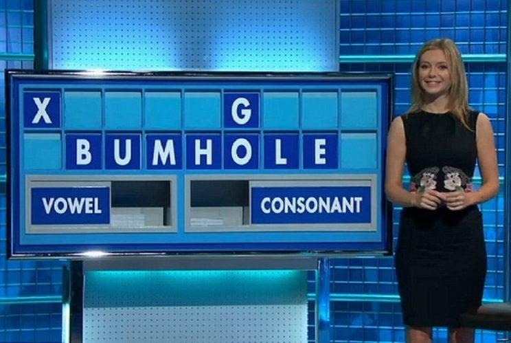 <p>Rachel tried to keep a straight face as she spelt out this rude word.</p>