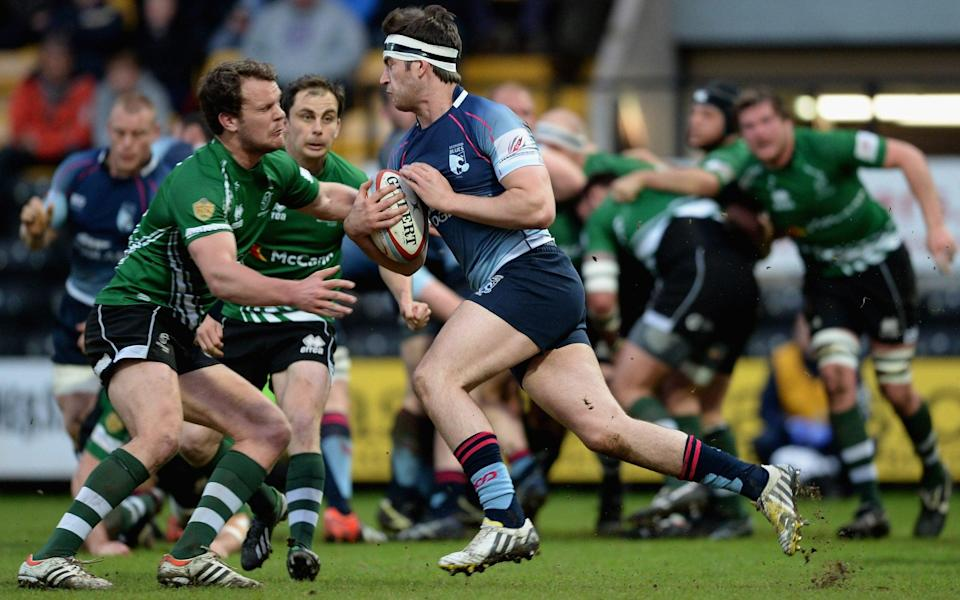 Mark Atkinson in action for Bedford against Nottingham in 2013 - Getty Images