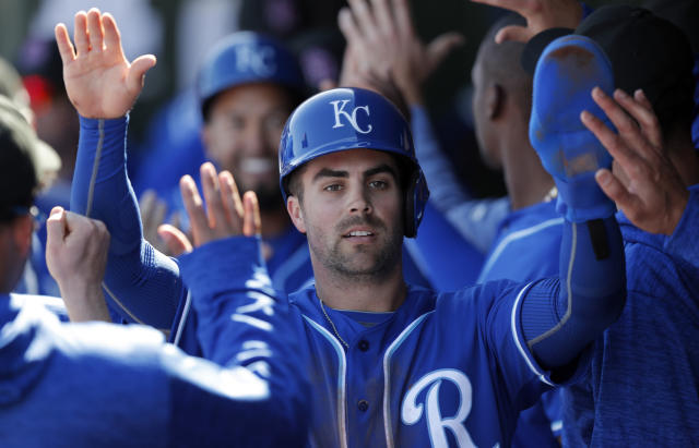 "Don't count on <a class=""link rapid-noclick-resp"" href=""/mlb/players/10298/"" data-ylk=""slk:Whit Merrifield"">Whit Merrifield</a> matching last year's storybook season (AP Photo)."