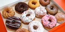"<p>Need to feed the troops breakfast with a dozen donuts or grab a cup of coffee to get you through the day? Don't worry, most <a href=""https://www.dunkindonuts.com/en"" rel=""nofollow noopener"" target=""_blank"" data-ylk=""slk:Dunkin'"" class=""link rapid-noclick-resp"">Dunkin'</a> locations will be open. Be sure to check the store locator for hours.</p>"